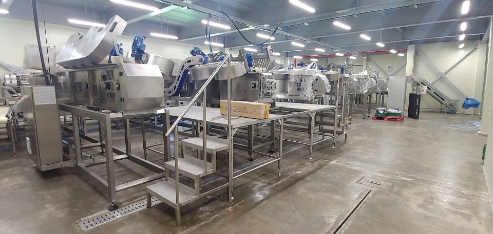 Línea automatizada para el desrabado de fresas en Corea